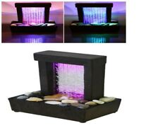 ™Relaxation Fountain Desktop Waterfall Table Indoor LED Water Colorful NEW
