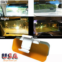 Day & Night 2IN1 Car Sun Visor Anti Glare HD Mirror Safety Driving UV Sun Block