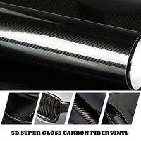 5D Car DIY Black Stickers Carbon Fiber Vinyl 24