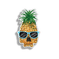 Pineapple Skull Glasses Sticker Cup Cooler Car Window Bumper 6