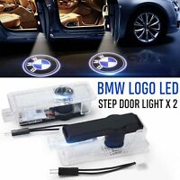 2 For BMW Logo LED Step Door Courtesy Replacement Light Ghost Shadow Projector