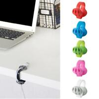 Mini Cable Drop Clip Desktop Organiser Wire Cord Lead USB Charger Fixer Holder C