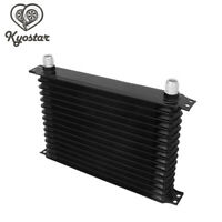Trust Type 15 Row Aluminum Car Truck Engine Transmission Oil Cooler 10AN Black