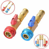 2 Pcs Air Conditioning R134A Car Valve Core Remover High Low Installer Quick