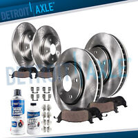 For 2002 2003 2004 Honda Odyssey - Front & Rear Brake Rotors + Ceramic Pads 3.5L