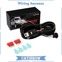 2 Lead With LED Light Bar Wiring Harness Kit 12V 40A Relay Fuse On Off Switch