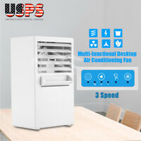 Portable White Table Air Conditioner Air Conditioning Fan Touch Control 3 Speed