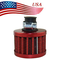 12mm Car Motorcycle Cold Air Intake Filter Turbo Vent Crankcase Breather Red