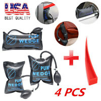 4X Air Pump Wedge Inflatable Leveling Alignment Shim Bag Tool hand Powerful