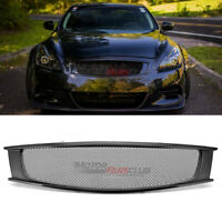 Real Carbon Fiber Front Mesh Grill Grille For 2008-2013 Infiniti G37 Sport 2Dr