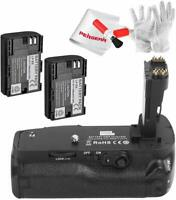 US Ship Pixel E20 Battery Grip+ 2*1800mAh Batteries/Charger for Canon 5D Mark IV