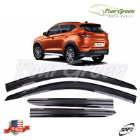 Smoke Window Vent Visor Sun Rain Deflector Guard For HYUNDAI 2016-2019 Tucson