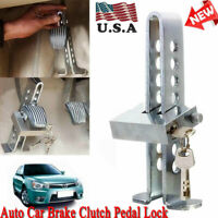 Brake Pedal Lock Security Car Stainless Steel Clutch Lock Anti-theft Universal