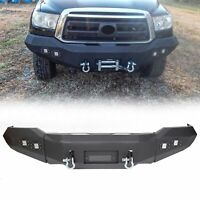 For 2007-2013 Toyota Tundra Front Bumper Steel Winch Ready w/ D Rings