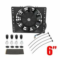 Universal 6''Inch Slim Push Pull Electric Cooling Fan Radiator Mount Kit Fit Car