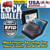 Black Lock Wallet-RFID Protect Blocking Wallet from Identity Theft As Seen On TV