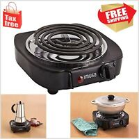 Portable Single Electric Burner Hot Plate Stove Dorm RV Travel Cook Counter-top