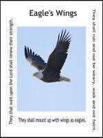 Eagle's Wings Inspirational Print Wall Art Home Decor 11