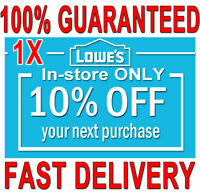 1x Lowes 10% OFF (20 SEC) DELIVERY -COUPONS1 INSTORE ONLY ORDERS EXPIRES 𝟖/𝟔