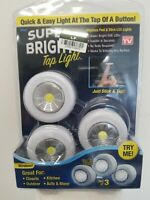 Stick N Click Battery Operated Peel & Stick LED Lights Set Of 3 As Seen On TV