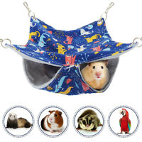Small Animal Pet Hammock Ferret Rat Mice Guinea Pig Hanging Bed Cage Accessories