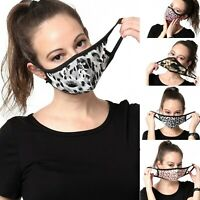Womens Fashion Face Mask Pattern Washable Reusable Cloth Cotton-lined Inside
