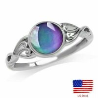 Temperature Color Changing Heart Shaped Mood Ring Creative Ring Women's Jewelry