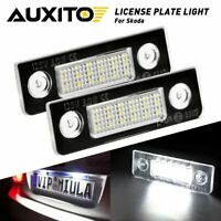 AUXITO LED License Plate Lights Fit For Skoda Skoda Roomster 5J  2006-2010