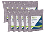 BREATHE GREEN BAMBOO CHARCOAL AIR PURIFYING BAG 10 PACK MOLD AND ODOR ELIMINATOR