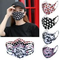 Women's Reusable Fashion Print Lightweight Stretch Breathable Face Mask Covering