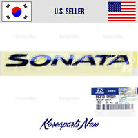 EMBLEM TRUNK REAR NAMEPLATE BLUE (GENUINE) 863104R000 HYUNDAI SONATA 2011-2014