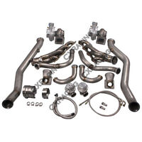 CX Twin Turbo Manifold Header Downpipe Kit For 63-65 Chevrolet Chevelle LS1/LSx