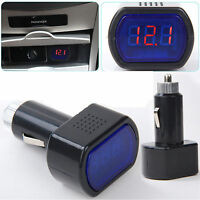 Digital LED Auto Car Cigarette Lighter Volt Voltage Gauge Meter Monitor 12V/24V