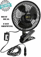Car Fan 12v Portable Vehicle Truck Oscillating Auto DC Metal Heavy Cooling Duty