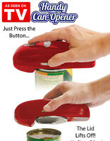 As Seen On TV Handy Automatic Can Opener, Red, One Touch Hands-Free Magnetic Lid