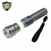 Powerful Flashlight Power Bank Rechargeable Replaceable Battery SOS