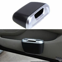 Mini Trash Rubbish Can Vehicle Auto Car Garbage Dust Case Holder Box Bin Silver