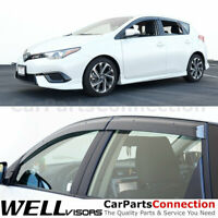 WellVisors Window Visors For 16-18 Corolla iM/Scion iM Side Deflectors