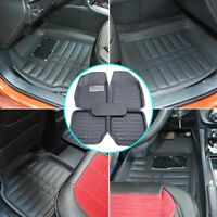 5pc Universal Car Floor Mats FloorLiner Front Rear Carpet Black All Weather Mat