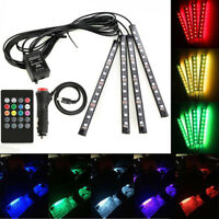 4*12LED Full color Interior Car Under Dash Foot Seat Inside Light Remote Control