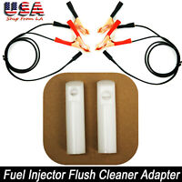 Easy DIY Universal Motorcycle Car Fuel Injector Flush Cleaner Adapter Kit Tool