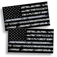 Distressed Black OPS American Flag Sticker Decal Subdued USA Car Truck Grunge US
