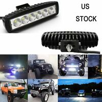 2X 18W Cree Led Work Light Bar Flood Suv Boat Driving Fog Lamp Offroad 4WD Truck