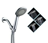 3 Function Handheld Shower Head+Stainless Steel Hose+Bracket . Bathroom supplies