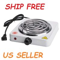 Portable Single Electric Burner Hot Plate Stove Dorm RV Travel Cook Counter top
