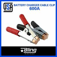 2pcs 1500Amp Jump Starter Battery Charger Clips Booster Jumper Cable Heavy Duty