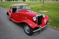 T-Series -- 1951 MG TD  68,470 Miles Red