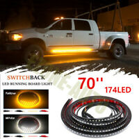 2pc 70 inch amber side marker & courtesy step led running board lighting kit