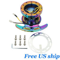 New Flip Up Tilt Quick Release System Steering Wheel Hub Boss Kit Neochrome