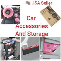 Auto Accessories Car Steering Cover Seat Hook Visor Pocket Storage Back Insulate